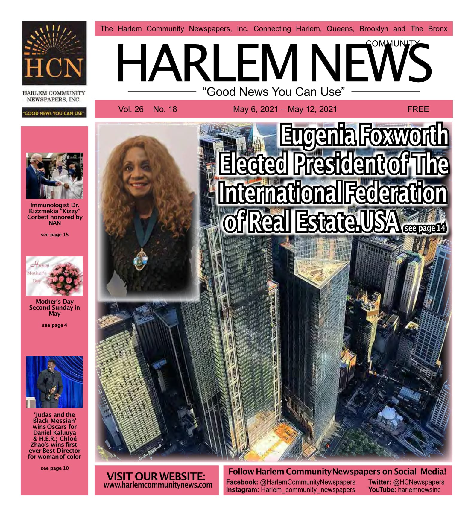 Harlem News Front Page